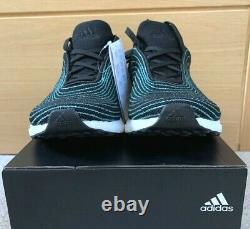 Adidas Men's UltraBoost DNA Parley Boost Black Blue White EH1184 Multiple Sizes