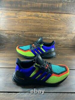 Adidas Running Ultra Boost DNA Black White Solar Red Mens Shoes FW8711-NEW