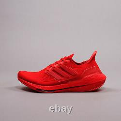 Adidas Running Ultraboost 21 Red workout training Gym New Men Shoes Rare FZ1922