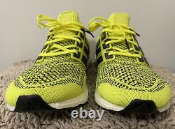Adidas Ultra Boost 1.0, S77414, Solar Yellow, Mens Running Shoes, Size 14