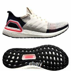 Adidas Ultra Boost 19 Clear Brown White Chalk Pink Mens Running Shoes B37705