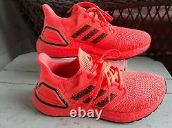 Adidas Ultra Boost 20 Signal Coral Womens Running Shoes size 7-EG0720 NEW