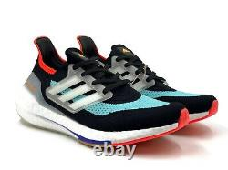 Adidas Ultra Boost 21 Mens Running Shoes Black Training Gym Sneaker Multi Sizes