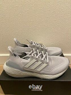 Adidas UltraBoost 21 Halo Silver Grey Mens New Authentic FY0432