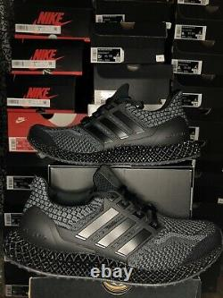 Adidas UltraBoost 4D 5.0 Black Carbon Running Shoes Size 8.5-9 G58160 BRAND NEW