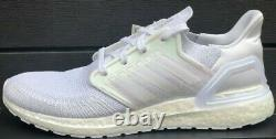 Adidas Ultraboost 20 Running Shoes Fw8721 Cloud White/ Iridescent Pink New Mens