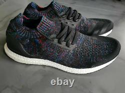Adidas Ultraboost Uncaged Core Black Active Red Blue Men's Shoes B37692 All Size