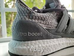 Sizes 9,9.5,10,11 Adidas Men's UltraBoost 5.0 DNA Grey/White Shoes (FY9354)