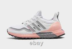 Women's adidas UltraBOOST Guard Running Shoes Gray/ Pink Size US 7 FW5482