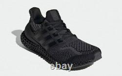 Adidas Ultra 4d 5.0 Triple Black Carbon Boost Reflective Shoes G58160 Hommes Taille
