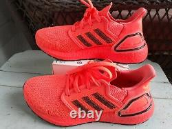 Adidas Ultra Boost 20 Signal Coral Femmes Running Chaussures Taille 7-eg0720 Nouveau