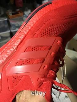 Adidas Ultra Boost 21 Taille Homme 11 Rouge 180 $ Avec Boîte