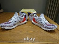 Adidas Ultraboost Blanc & Rouge Uk Taille 8