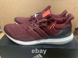 Hommes Adidas Ultraboost Ultra Boost 1.0 Taille 9 Bourgogne Maroon Af5836