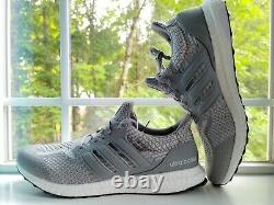 Tailles 9,9,5,10,11 Adidas Homme Ultraboost 5.0 Dna Chaussures Gris/blanc (fy9354)